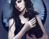 Samhain gothic fantasy halloween dark print occult witchcraft