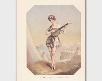 "Ballet Art (Vintage Ballerina Wall Decor, 1940s Wall Print, Gift for Dancers) ---""Victoire!"""