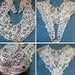 Antique French Schiffli Lace Collar Edwardian Dress Front Modesty Panel Reversible Chemical Lace Fichu