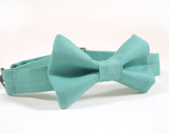 Teal Blue Bow Tie, spa bow tie, boys bow tie, boys bow tie, men's bow tie, sage bow tie, toddler bow tie, child's bow tie, green bow tie