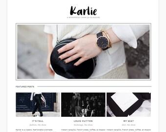 Wordpress Theme Responsive Ecommerce Blog Template Blog Design - Karlie - Black