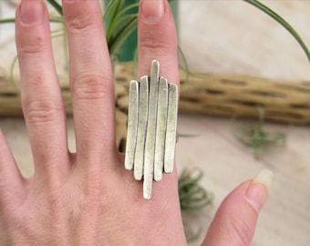 Silver Statement Ring - Boho Ring
