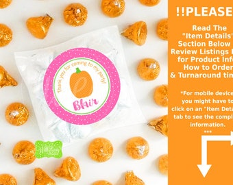 Little Pumpkin Favor Stickers - Pumpkin Favor Stickers - Pumpkin Birthday Stickers - Little Pumpkin Labels - Digital or Printed