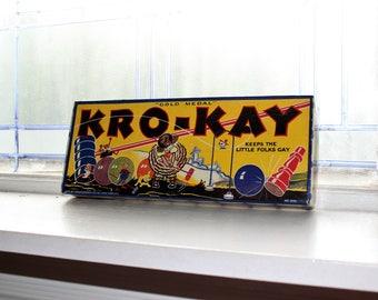 Antique Toy Kro-Kay Game Croquet Vintage 1920s