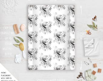 Change Mat Cover/ Sleepy Koala Modern Australiana Linen Cotton | Fabric by Thistle and Fox | Ships in 4-5 wks