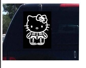 Skeleton Hello Kitty Star Wars Car Decal