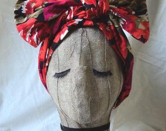 Bright Floral Tropical Headwrap