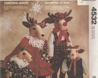 Reindeer Doll Family Pattern McCalls 4532 Uncut