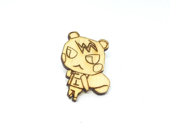 Marshal Animal Crossing Pin | Laser Cut Jewelry | Wood Accessories | Wood Pin