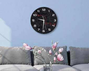 Black bear pass edition aluminum composite wall clock ideal gift for jeep lovers