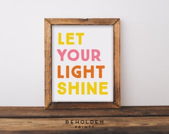 Let Your Light Shine Etsy