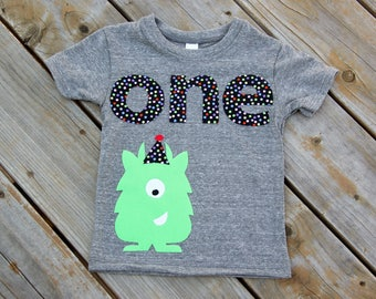 Monster First Birthday Shirt, Monster Party Theme Shirt, First Birthday Shirt, Party Monster Shirt, Monster Party, Polka Dot Party