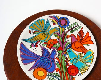 Villeroy and Boch Acapulco plate - Luxembourg 60s - Psychedelic Pop Art Mid Century Mexican decor - side plate - wall plate - retro kitchen