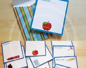 Thank you Teacher Journal Cards set Teacher mini album teacher scrapbook teacher thank you cards teachers gift teacher appreciation