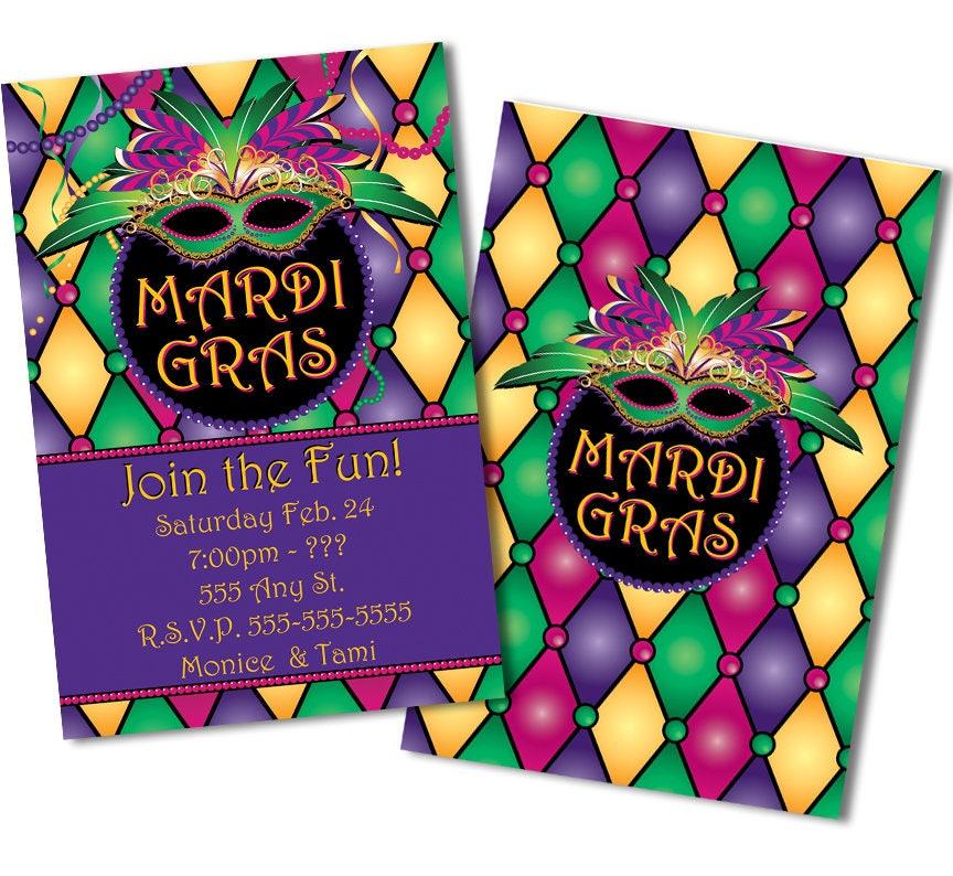 mardi gras invitations