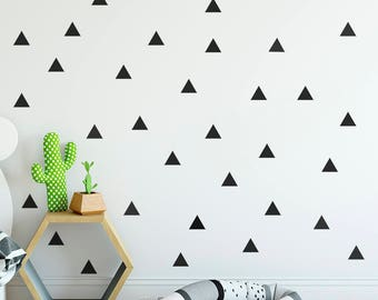 Triangle Wall Decal, Kids Room Decor, Triangle Wall Sticker, Nursery Decor, Modern Wall Decal, Office Decor, Kids Room Triangle, ID651