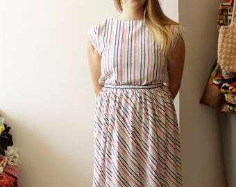 Hand made Vintage striped set- S/M