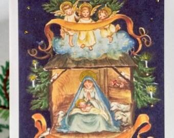 Tasha Tudor Nativity Greeting Card