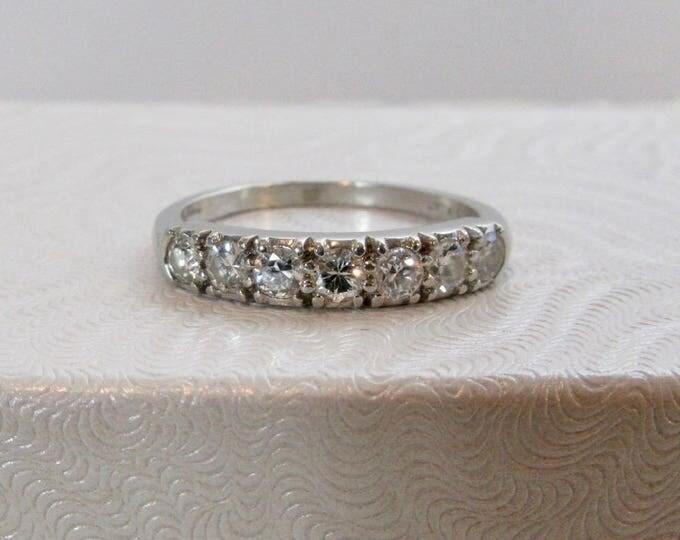 Platinum Diamond Wedding Ring, Platinum Ring, Platinum Wedding Ring, Diamond Wedding Ring, Anniversary Ring, Vintage Ring, Wedding Ring