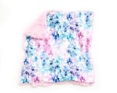 Lovey Watercolor Hydrangeas. Lovey. Floral Lovey. Pink Lovey. Mini Baby Blanket. Security Blanket. Lovie. Minky Lovey.