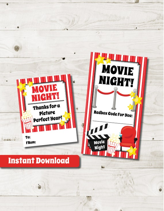 Redbox Gift Card redbox code redbox tag movie gift tag movie night ...
