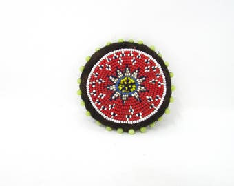 Tribal Beaded patch