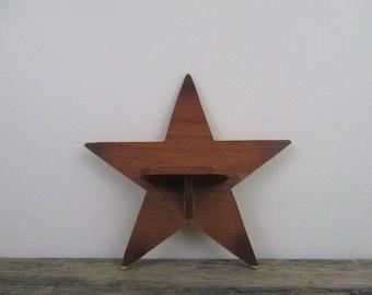 Star Shaped Shelf, Vintage Shelf, Display Shelf, Small Wooden Shelf, Rustic Little Shelf, Hanging Shelf