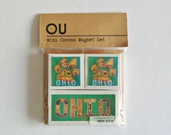 OHIO UNIVERSITY BOBCATS - Mini Canvas Magnet set of 3