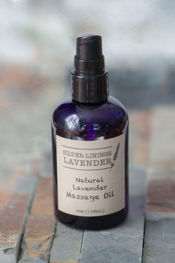 Natural Lavender Massage Oil