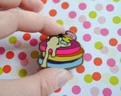 Pan Cakes - Pastry Pride Enamel Pins - Pansexual Pride Pin