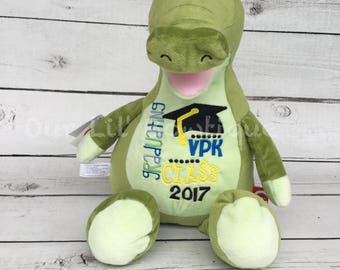 Personalized Stuffed Animal - Subway Art Baby Gift - Personalized Crocodile - Birth Announcement -New Baby-Personalized Baby Gift- Crocodile
