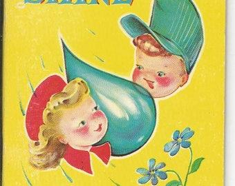 Vintage Tiny Tales 1960 Whitman Rain and Shine Children's  Book