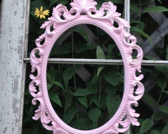 """18"""" Tall French Inspired Oval Frame - Open Wall Frame - Pink Nursery - Girls Room"""