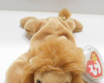 Vintage Ty ROARY, Little Lion, DOB 02/20/96 (19-G) Beanie Babies Collection