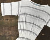 Adidas Grey Stripe Tennis Dress