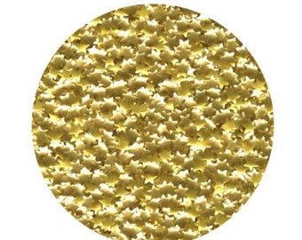 Edible Metallic Gold Star Glitter Sprinkles for cake, cookie, & confectionery decorating