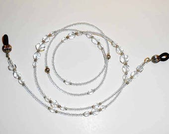 Beaded Eyeglass Chain- Eyeglass Chain - Eyeglass Holders - Eyeglass Necklace - Elegant Beaded Eyeglass Chain - Swarovski Crystals - EC22172