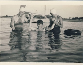 Learning to swim?, Vintage photograph c1930s