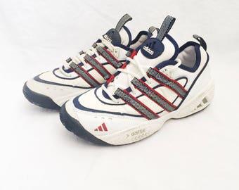 vintage adidas spitfire lo le tennis shoes mens size 9 deadstock NIB 1997