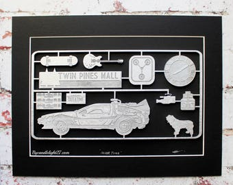 Back To The Future, Kit Panel,  Hill Valley, Marty McFly, BTTF, Back To The Futute Art, Geek Gift, Doc Brown, Delorean, Geeky Decor, 3D ART