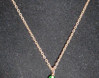 Swarovski Crystal Long Green, Brown and Copper Beaded Bead Lantern Pendant