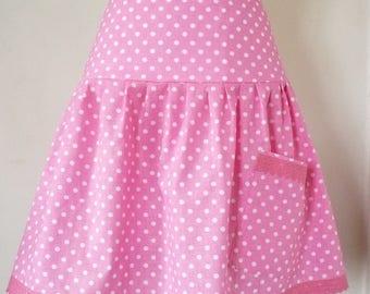 pink polka dot skirt cotton Tavern