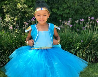 Shimmer and Shine Inspired Tutu Dress. Shine Costume. For Halloween, Birthday Party