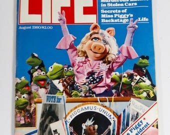 Life Magazine August 1980 Complete Issue - Miss Piggy for President
