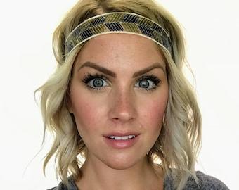 The Cleo - Black and Gold Sequin Boho Headband