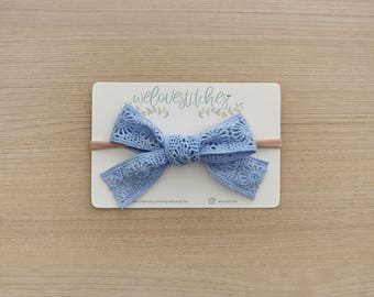 Big lace bow headbands - newborn headbands - baby bow - baby girl - baby girl headbands - infant headband - baby headband - headbands