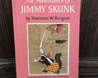 Vintage 1946 The Adventures of Jimmy skunk book