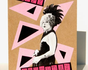 1920's Flapper Vixen Happy Birthday Card