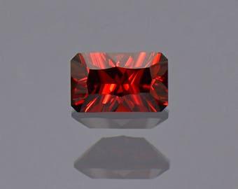UPRISING SALE! Deep Red Orange Rhodolite Garnet Gemstone from Tanzania 1.37 cts.