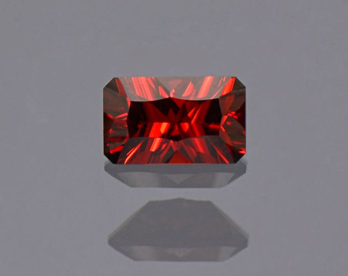 Deep Red Orange Rhodolite Garnet Gemstone from Tanzania 1.37 cts.